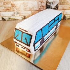 Торт в форме автобуса