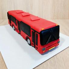Торт автобус из мастики