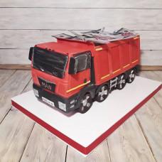 Торт грузовик с деньгами