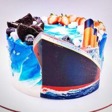 Торт в виде Титаника