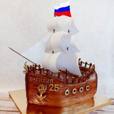 Торт корабль мужчине