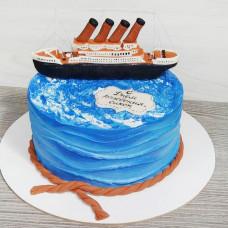 Торт корабль для мальчика