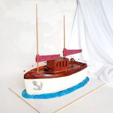 Торт в виде яхты