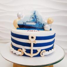 Торт с военным кораблем