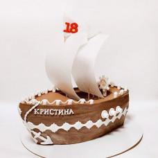Торт корабль с парусами