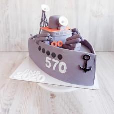 Торт в виде военного корабля