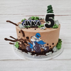 Торт с квадроциклом для мальчика