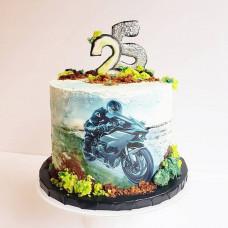 Торт для байкера с мотоциклом