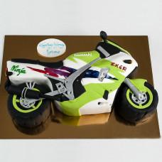 Торт в форме мотоцикла