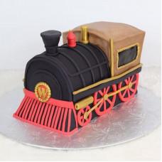 Торт в виде локомотива