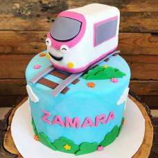 Торт поезд для девочки
