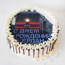 Торт с поездом без мастики