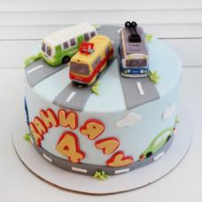 Торт автобус, трамвай и троллейбус