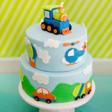 Детский торт с поездом