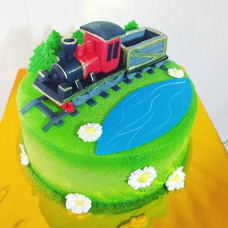 Торт поезд с вагонами