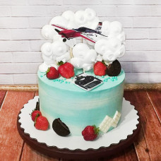 Торт на тему авиа моделирования