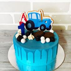 Торт на год синий трактор
