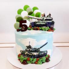 Торт танк для мальчика 5 лет