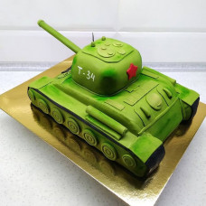 Торт в виде танка Т 34