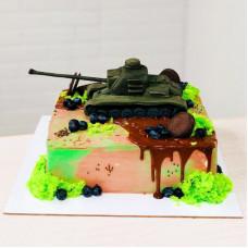 Торт танк на день рождения