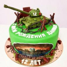 Торт на день рождения мальчику танки