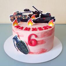 Торт танк для мальчика 6 лет