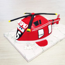 Торт с вертолетом для мальчика
