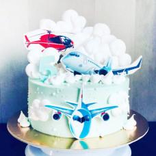 Торт с вертолетом без мастики