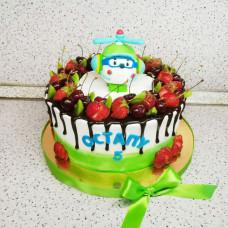 Детский торт вертолет