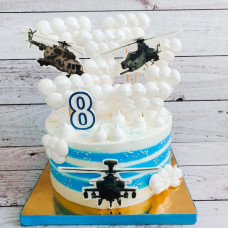 Торт с военными вертолетами мальчику