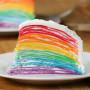 Радужный торт блинный