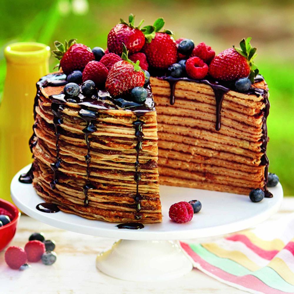 Блинный торт с шоколадом