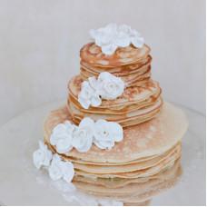 Свадебный блинный торт