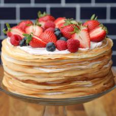 Блинный ягодный торт