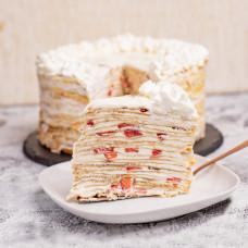 Блинный торт с кремом пломбир