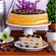 Блинный торт с голубикой