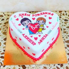 Торт мороженое сердце