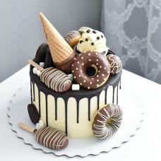 Торт мороженое с печеньем