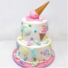 Большой торт мороженое