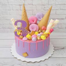 Торт мороженое на день рождения девочки