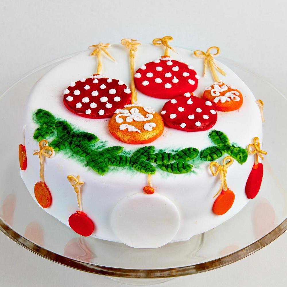 Новогодний муссовый торт