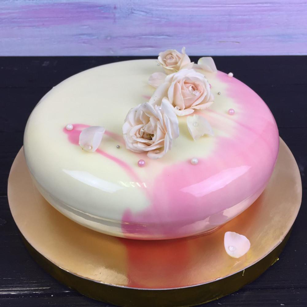 Муссовый торт с цветами