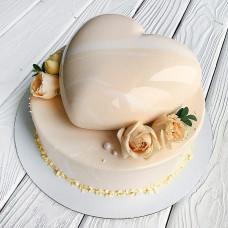 Муссовый торт сердце