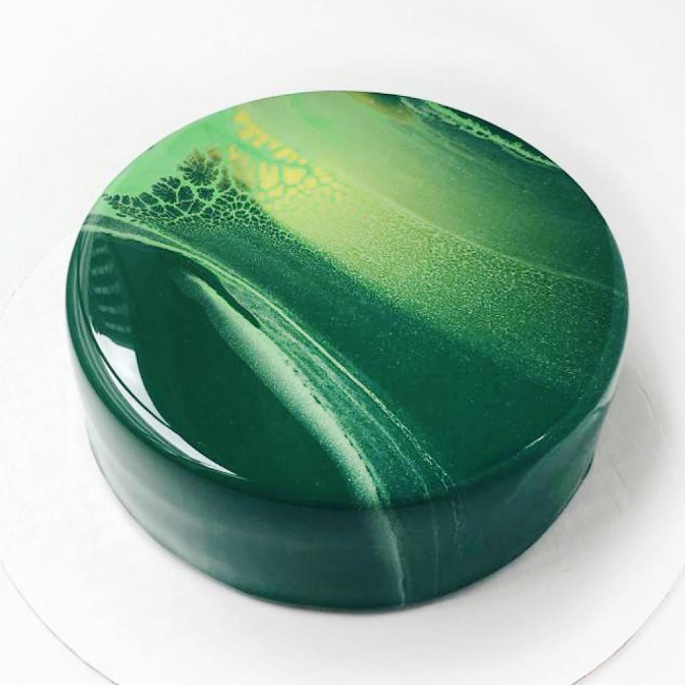 Зеленый муссовый торт