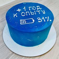 Синий муссовый торт