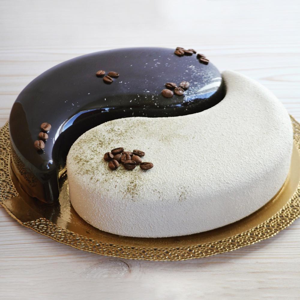 Муссовый торт Инь-Янь