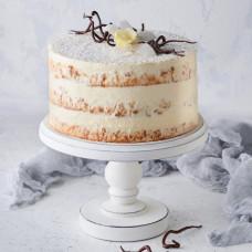 Постный торт с грушей