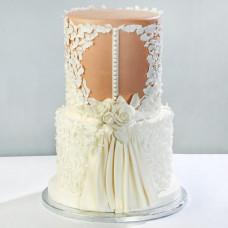 Свадебный торт с платьем