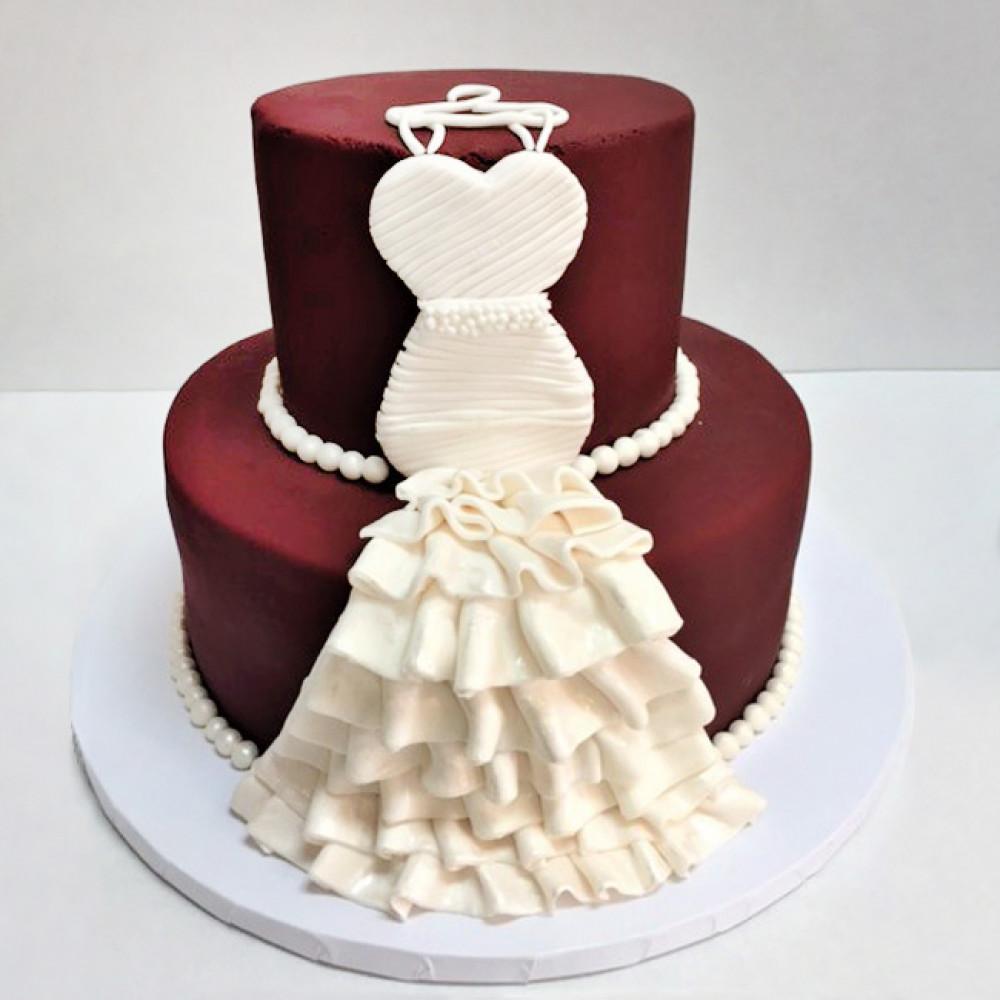 Экстравагантный торт платье на свадьбу