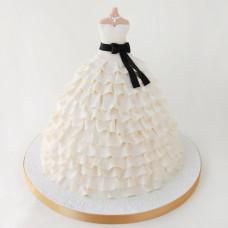 Торт в форме свадебного платья